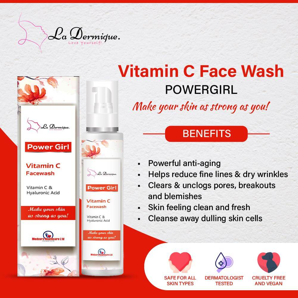 VITAMIN C AND HYALURONIC ACID FACE WASH